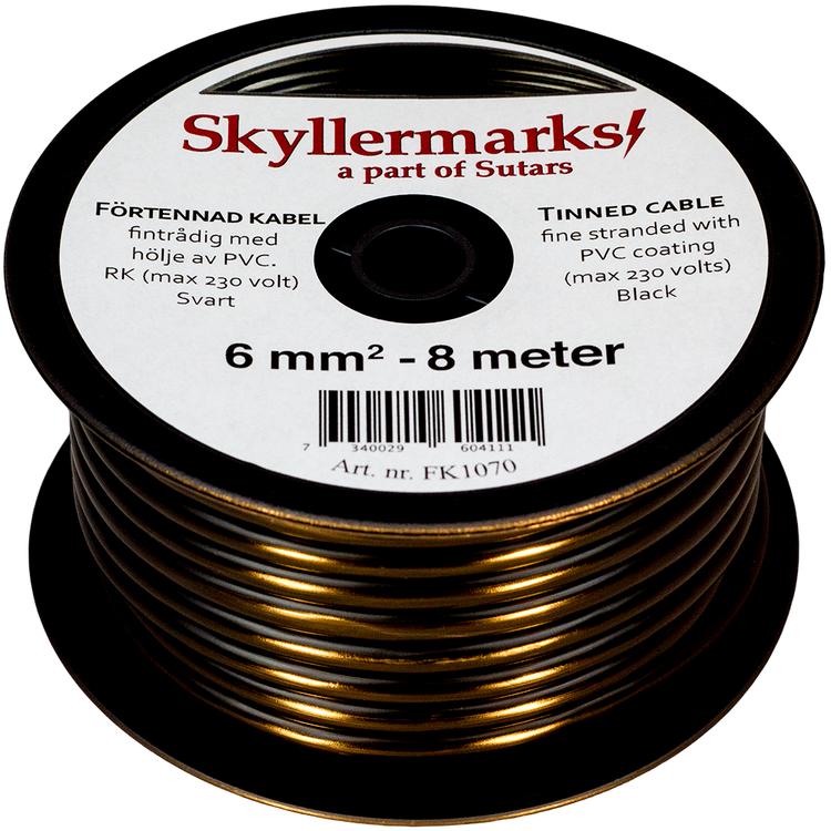 Minirulle Enledad Förtennad svart 6 mm² - 8 m Skyllermarks FK1070
