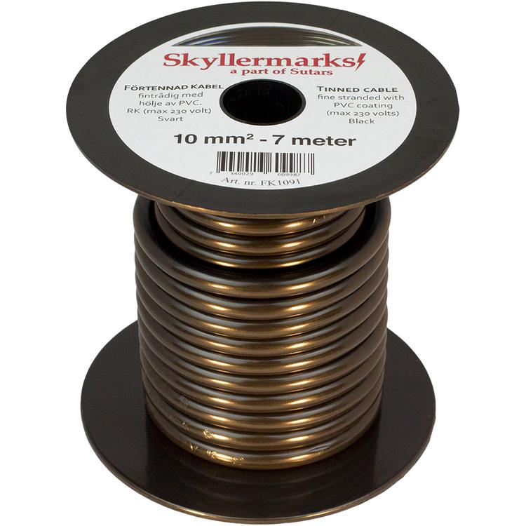Minirulle Enledad Förtennad svart 10 mm² - 7 m Skyllermarks FK1091