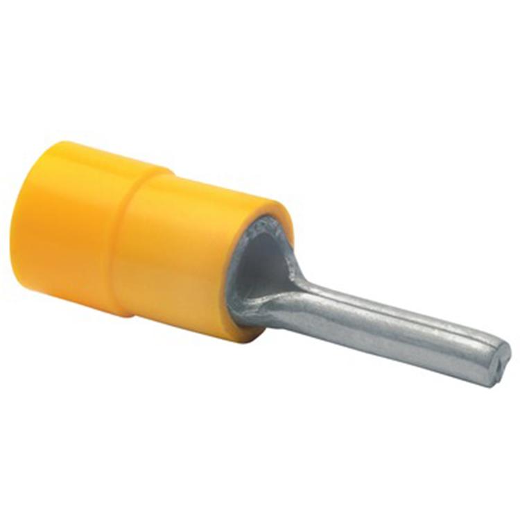 Stiftkabelsko Isolerad gul, 10-pack
