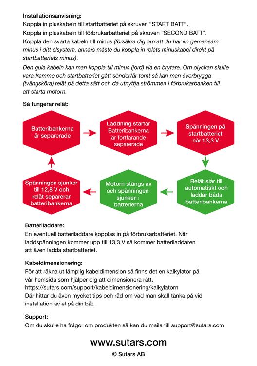 Digitalt Spänningsstyrt Skiljerelä 140A 12V, Skyllermarks
