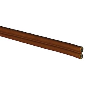 Kabelslattar förtennad PVC tvåledad brun/brun 2x2,5 mm² Skyllermarks