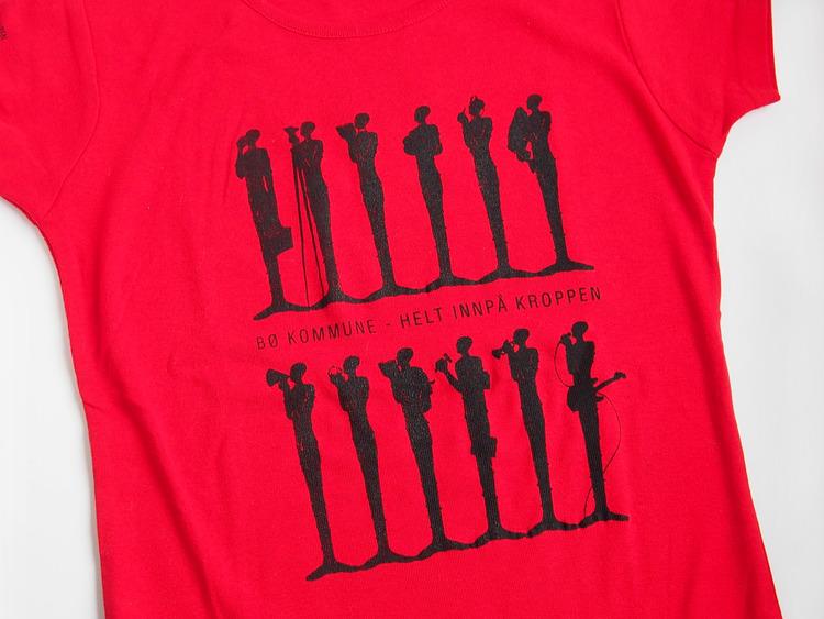 T-skjorte, rød