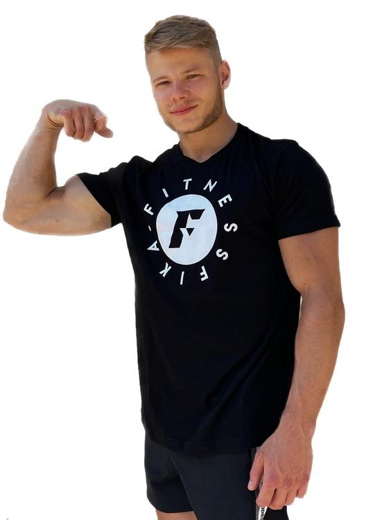 T-shirt Svart/vit Herr