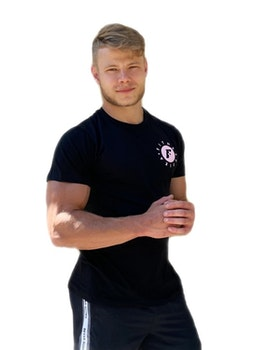 T-shirt Svart/rosa Herr