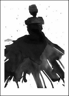 "Poster ""Black Dress"""
