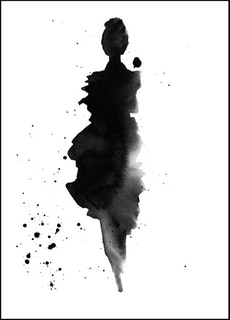 "Poster ""Black Ruffles"""