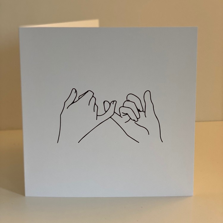 """Car: """"Hold hands up"""" 15X15 Black/white"""