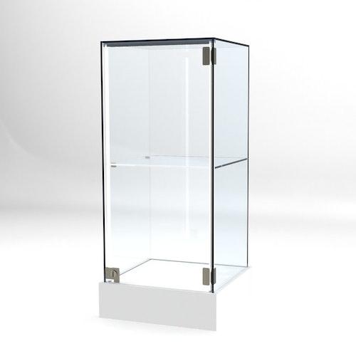 Glasvitrin BAS 40*40*92 cm Glastopp.