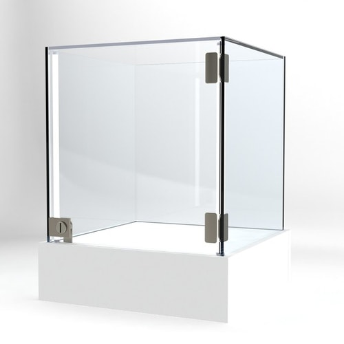 Glasvitrin BAS 40*40*52 cm Glastopp.