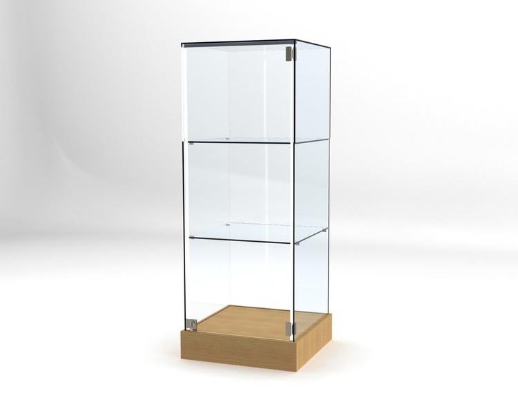 Glasvitrin BAS 50*50*132 cm Glastopp.