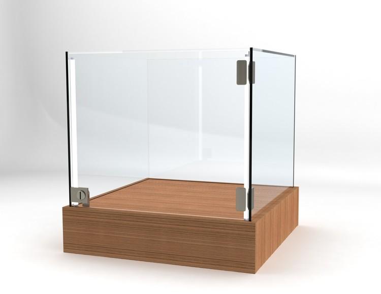 Glasvitrin BAS 50*50*52 cm Glastopp.