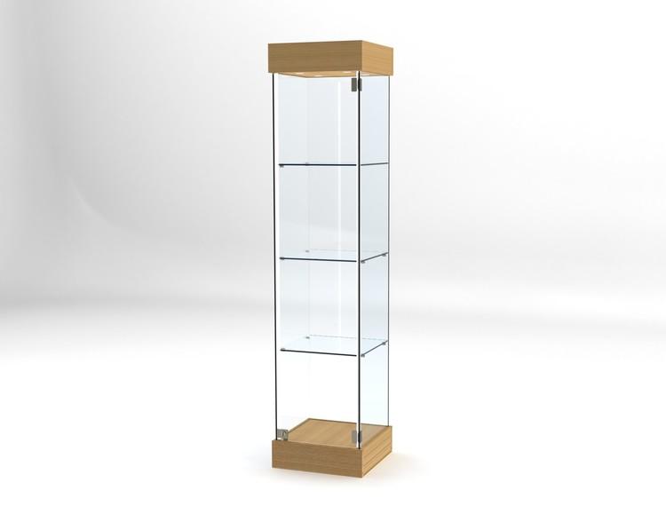 Glasvitrin BAS 40*40*172 cm med 12 cm topp