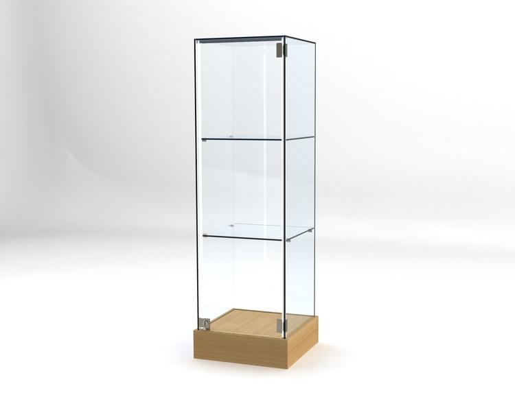 Glasvitrin BAS 40*40*132 cm Glastopp.