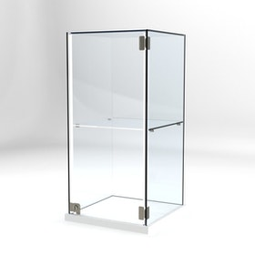 Glasvitrin Billy 40*40*82 cm Glastopp.