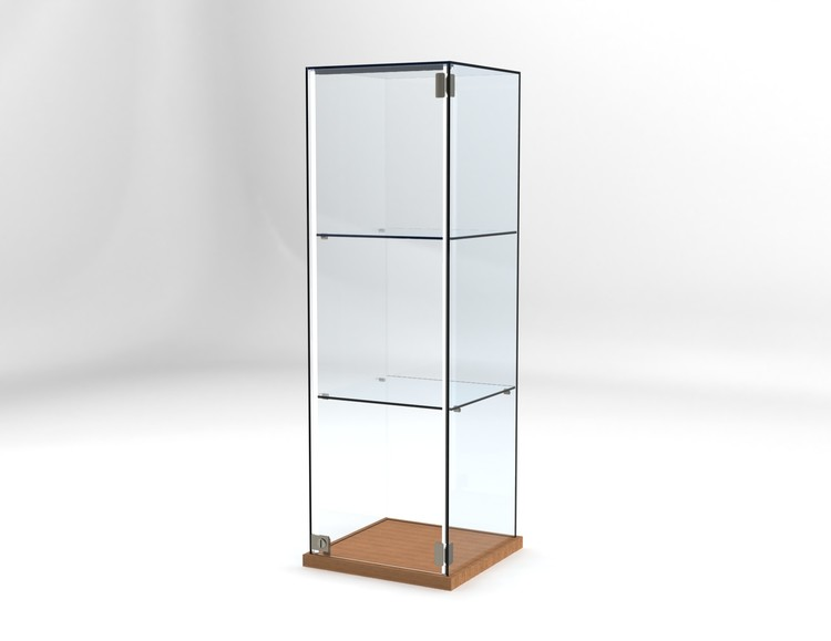 Glasvitrin Billy 40*40*122 cm Glastopp.
