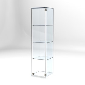 Glasvitrin Billy 40*40*162 cm Glastopp.