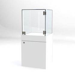 Glasvitrin BAS Förvaring 40*40*92 cm Glastopp.
