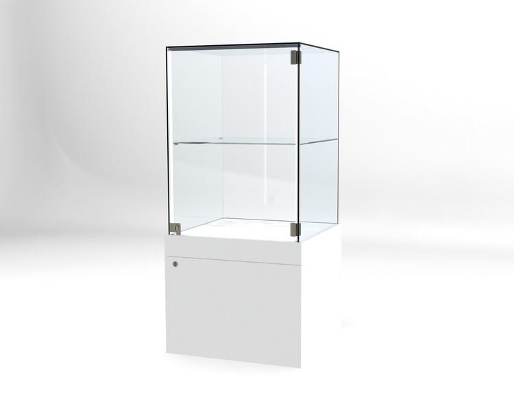 Glasvitrin BAS Förvaring 60*60*132 cm Glastopp.