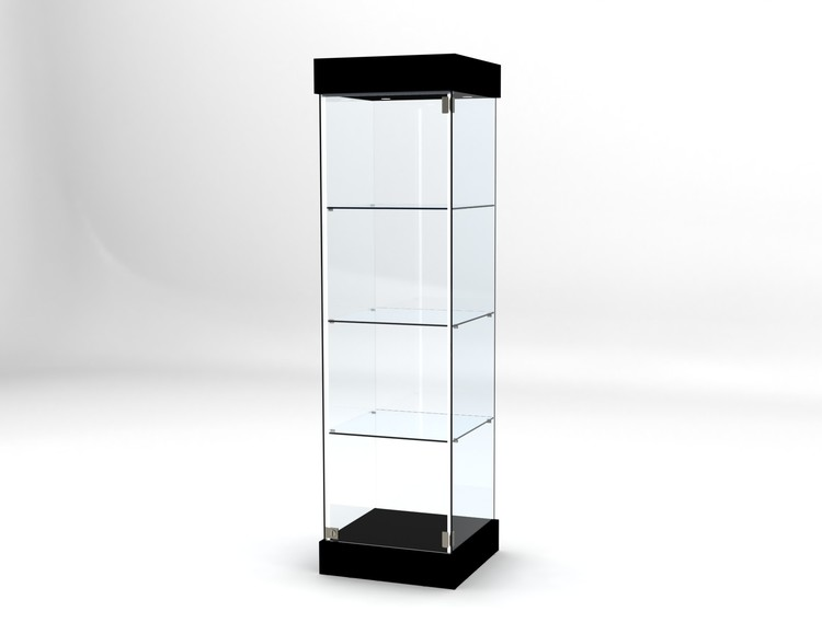 Glasvitrin BAS 50*50*172 cm med 12 cm topp