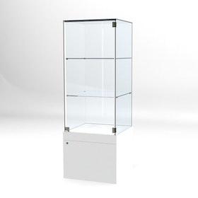 Glasvitrin BAS Förvaring 60*60*172 cm Glastopp.