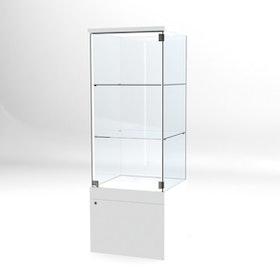 Glasvitrin BAS Förvaring 60*60*172 cm med 3 cm topp.