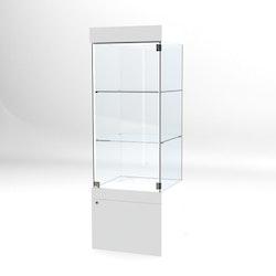 Glasvitrin BAS Förvaring 60*60*172 cm med 12 cm topp.