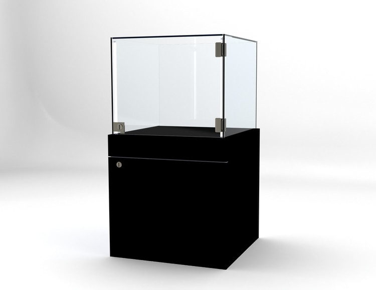Glasvitrin BAS Förvaring 50*50*92 cm Glastopp.