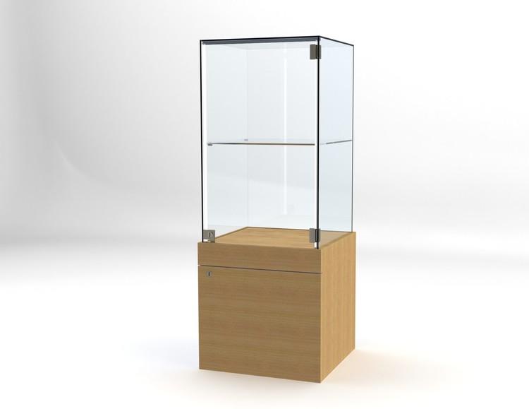 Glasvitrin BAS Förvaring 50*50*132 cm Glastopp.