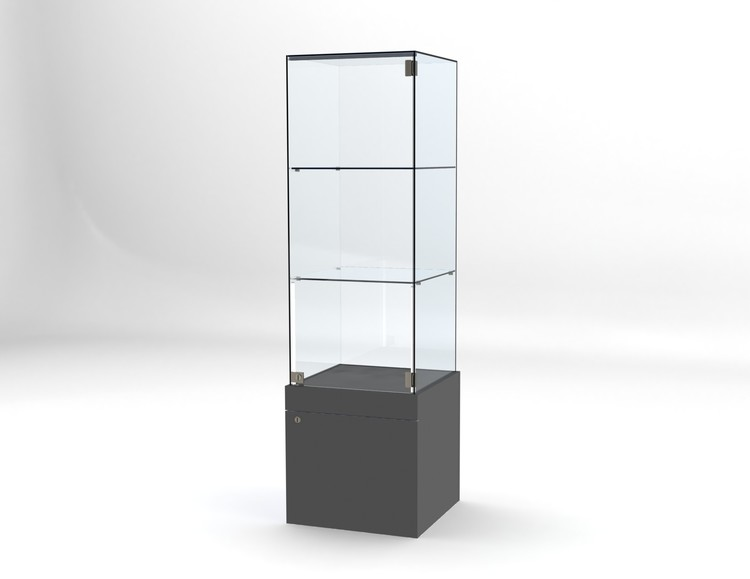 Glasvitrin BAS Förvaring 50*50*172 cm Glastopp.