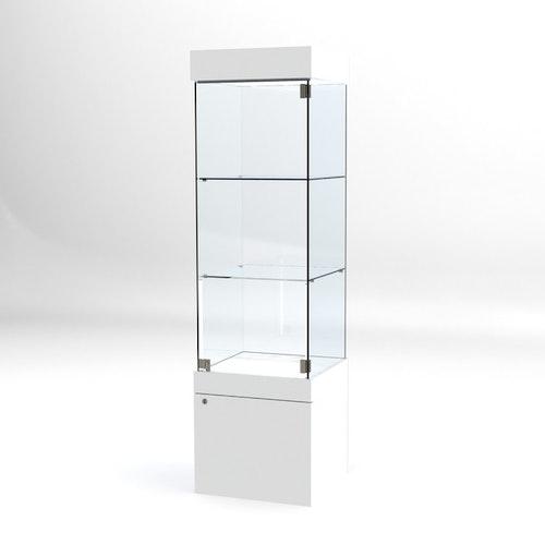 Glasvitrin BAS Förvaring 50*50*172 cm med 12 cm topp.