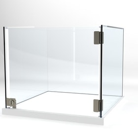 Glasvitrin Billy 50*50*42 cm Glastopp.