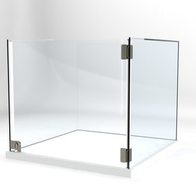 Glasvitrin Billy 60*60*52 cm Glastopp.