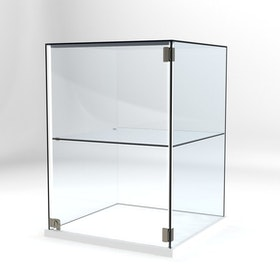 Glasvitrin Billy 60*60*82 cm Glastopp.