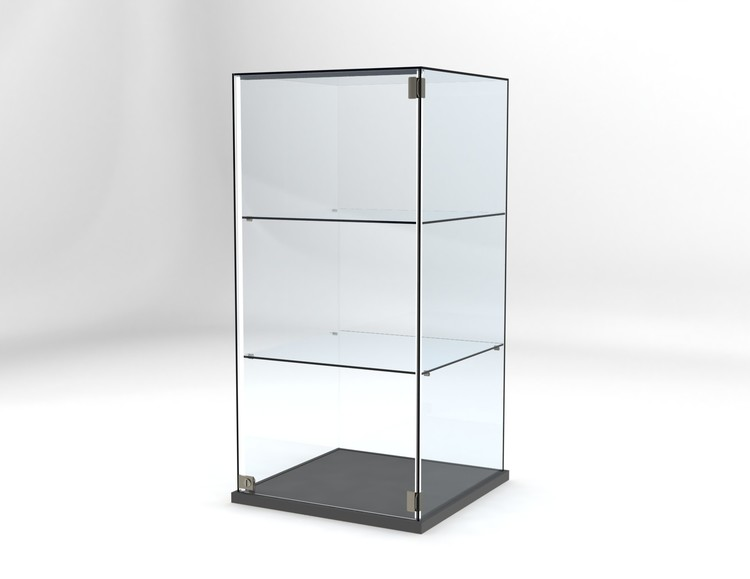 Glasvitrin Billy 60*60*122 cm Glastopp.