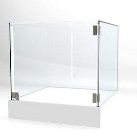 Glasvitrin BAS 60*60*62 cm Glastopp.