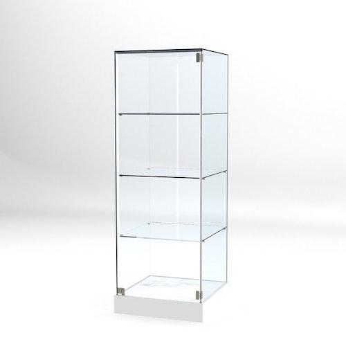Glasvitrin BAS 60*60*172 cm Glastopp.