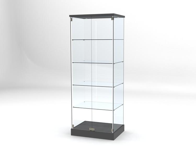Glasvitrin BAS 60*80*202 cm med 3 cm topp