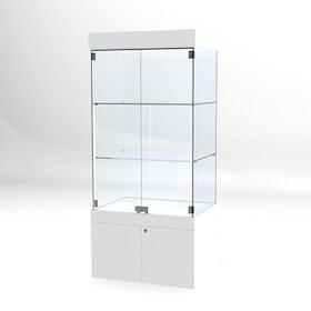 Glasvitrin BAS Förvaring 60*80*172 cm med 12 cm topp.