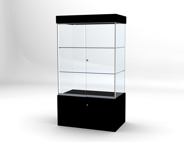 Glasvitrin BAS Förvaring 60*100*172 cm med 12 cm topp.