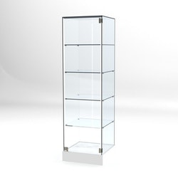 Glasvitrin BAS 50*50*172 cm Glastopp. 4 hyllor
