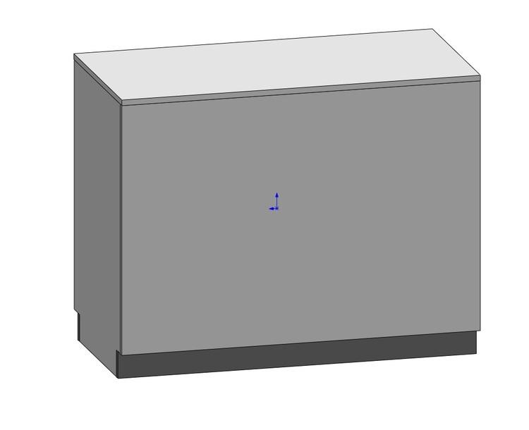Kassadisk Billy 60*120*95 cm 2 lådor 4 hyllor