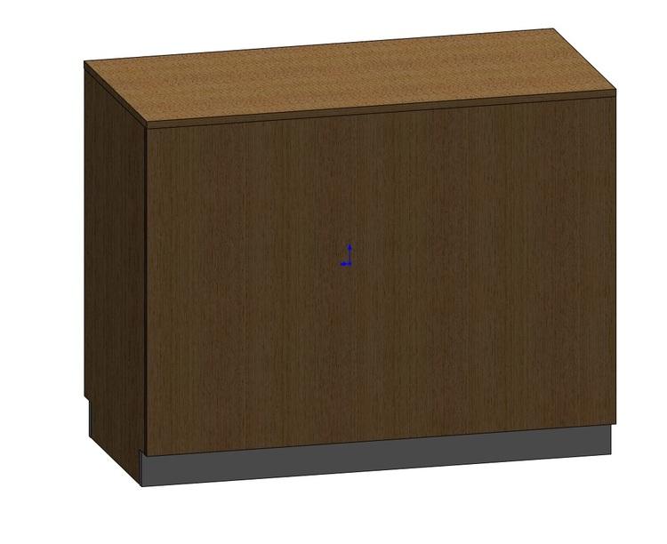 Kassadisk Billy 60*120*95 cm 4 lådor vänster, 2 hyllor