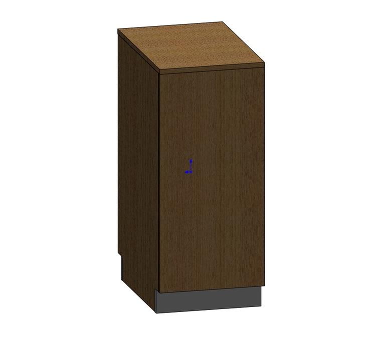 Kassadisk Billy 60*40*95 cm 1 låda, 2 hyllor