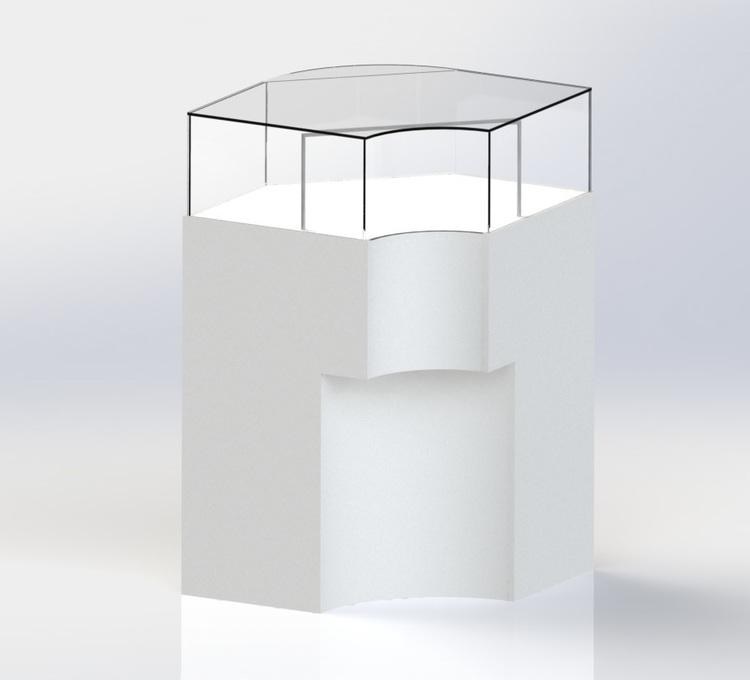 """Glasmonter - Golvmonter """"ANNIKA"""" hörn 90 gr"""