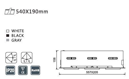 TAKSPOTLIGHT Z3 84w - 3 X 2850 LM