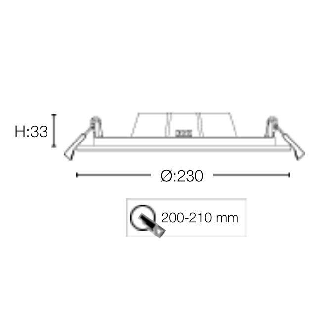 ULTRA TAKLAMPA 230 MM - 20W