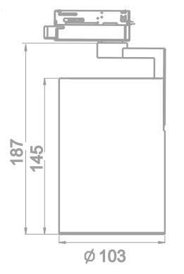 TAKSPOT CYLINDER PAR30 9,5W 760LM