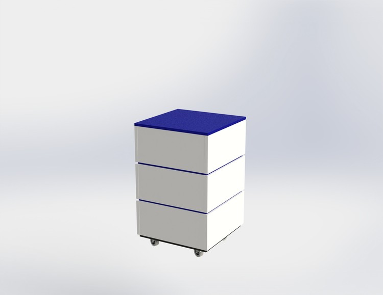 Skyltpodie SUCCE - stapelbart - Vit - Blå