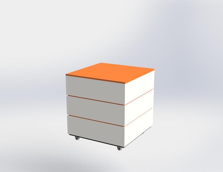Skyltpodie SUCCE - stapelbart - Vit - Orange