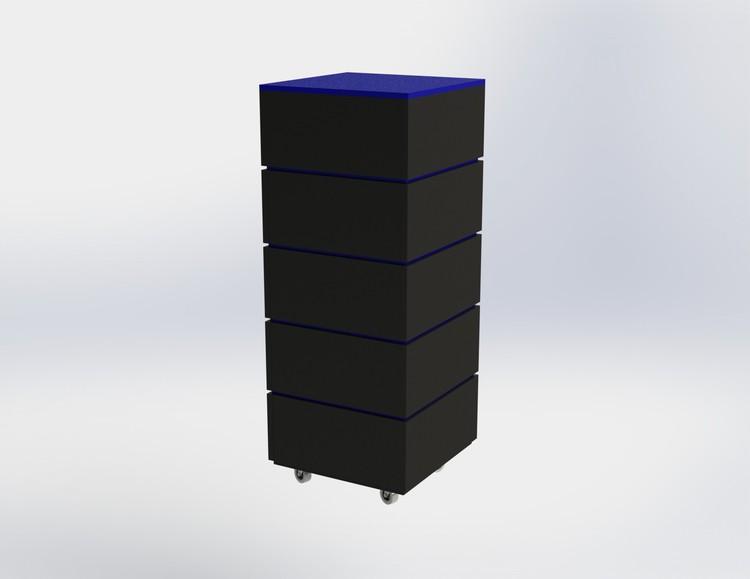 Skyltpodie SUCCE - stapelbart - Svart - Blå